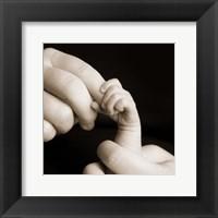 Framed Baby Hand Holding Finger