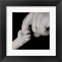 Baby Hand Holding Finger II Framed Print