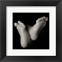 Framed Baby Feet Crossed