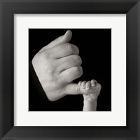 Baby Fingers And Pinky Framed Print