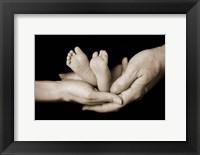 Framed Baby Feet In Hands