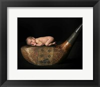 Dickson Baby On Golf Club Framed Print