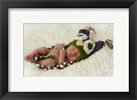 Baby In Owl Cap Framed Print
