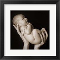 Baby Held Aloft Framed Print