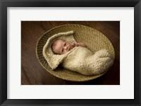 Allen Baby In Basket Framed Print