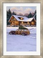 Framed Log Cabin