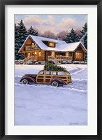 Framed Log Cabin
