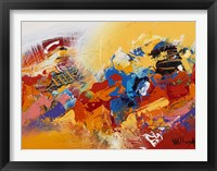 Abstract Red and Yellow 3 Framed Print