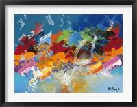 Abstract Ocean Blue 5 Framed Print