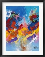 Framed Abstract Ocean Blue 4