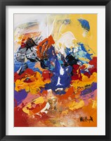 Abstract Red and Yellow 2 Framed Print