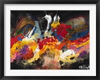 Framed Abstract Black 1