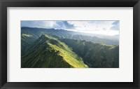 Framed Hawaii Loa Ridge