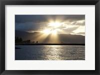 Framed North Shore Sunset