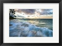 Framed Kahala Beach Waves