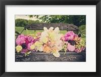 Framed Flower Bench