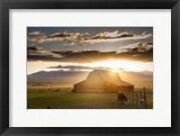 Wet Mountain Barn I Framed Print
