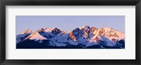 Framed Rocky Mountain Range