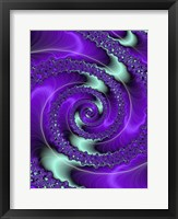 Framed Purple and Teal