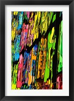 Framed Melting Crayons I