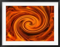 Framed Orange Swirls