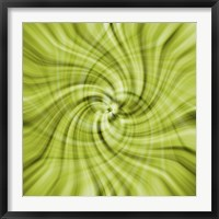 Framed Lime Swirls
