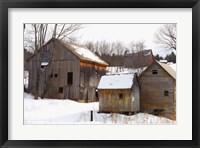 Framed Winter Barns