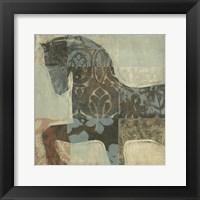 Framed Patterned Horse I