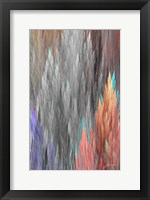 Brush Panels II Framed Print