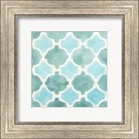 Framed Watercolor Tile II