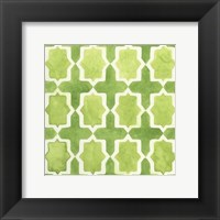 Framed Watercolor Tile III