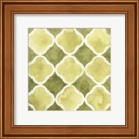Framed Watercolor Tile IV