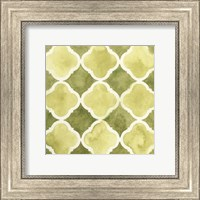 Framed Watercolor Tile IV