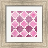 Framed Watercolor Tile V