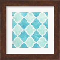 Framed Watercolor Tile VI
