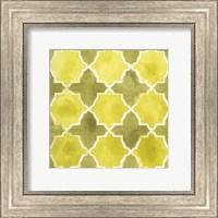 Framed Watercolor Tiles VIII