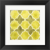 Framed Watercolor Tiles VIII