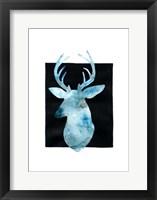 White Tail Bust II Framed Print