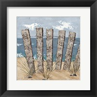 Beach Scene Triptych I Framed Print