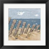 Beach Scene Triptych II Framed Print