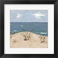 Beach Scene Triptych III Framed Print