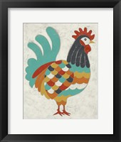 Country Chickens I Framed Print