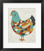 Country Chickens II Framed Print