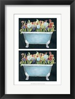 2-Up Bathtub Garden I Framed Print