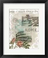 Framed Visiting Rome