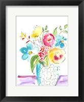Framed Flower Burst Vase I