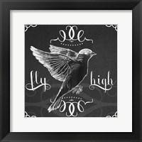 Framed Chalkboard Bird I