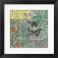 World Bazaar Butterflies I Framed Print