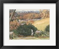 Framed Watercolor Garden III