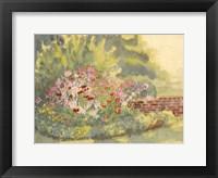 Framed Watercolor Garden V